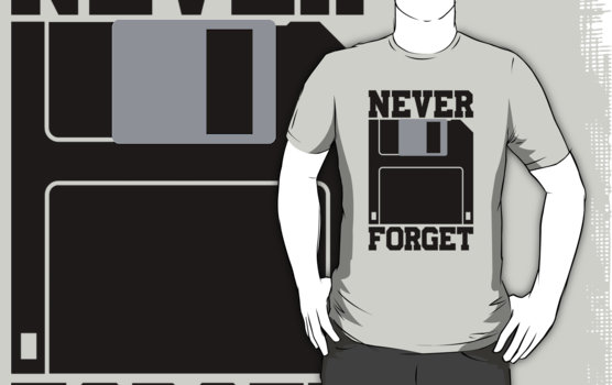 Silicon Valley - Floppy Disk - Never Forget T-Shirt