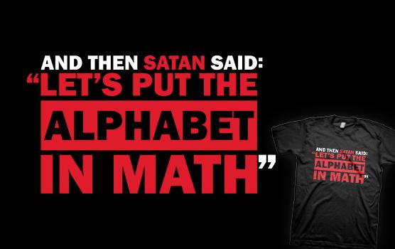 Alphabet in Math T-Shirt