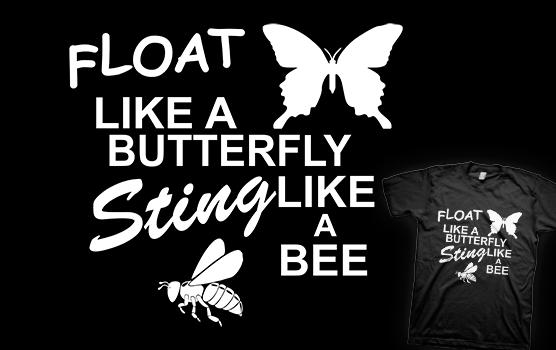 Muhammad Ali T-shirt - Float Like a Butterfly