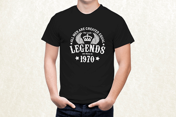 All Men are Created Equal But Only Legends are Born in 1970 T-shirt