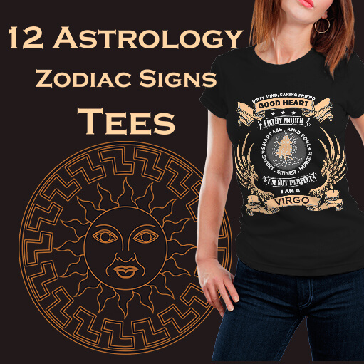12 Astrology Zodiac Signs Tees