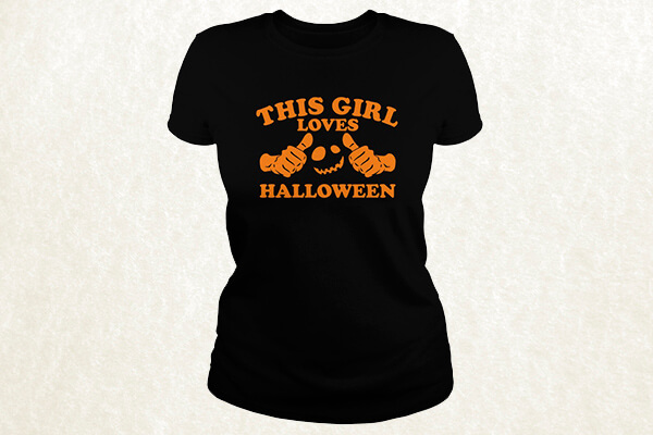This Girl Loves Halloween T-shirt