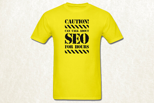 Can talk about SEO T-shirt