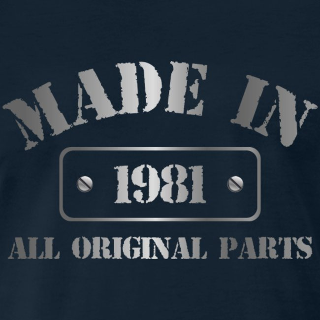 Made in 1981 T-shirt