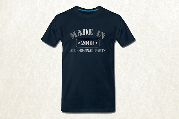 Made in 2008 T-shirt