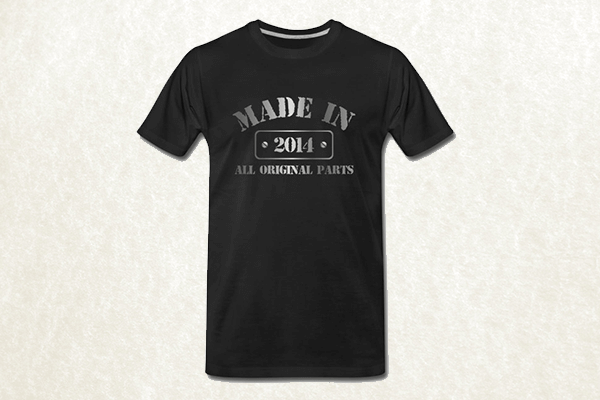 Made in 2014 T-shirt